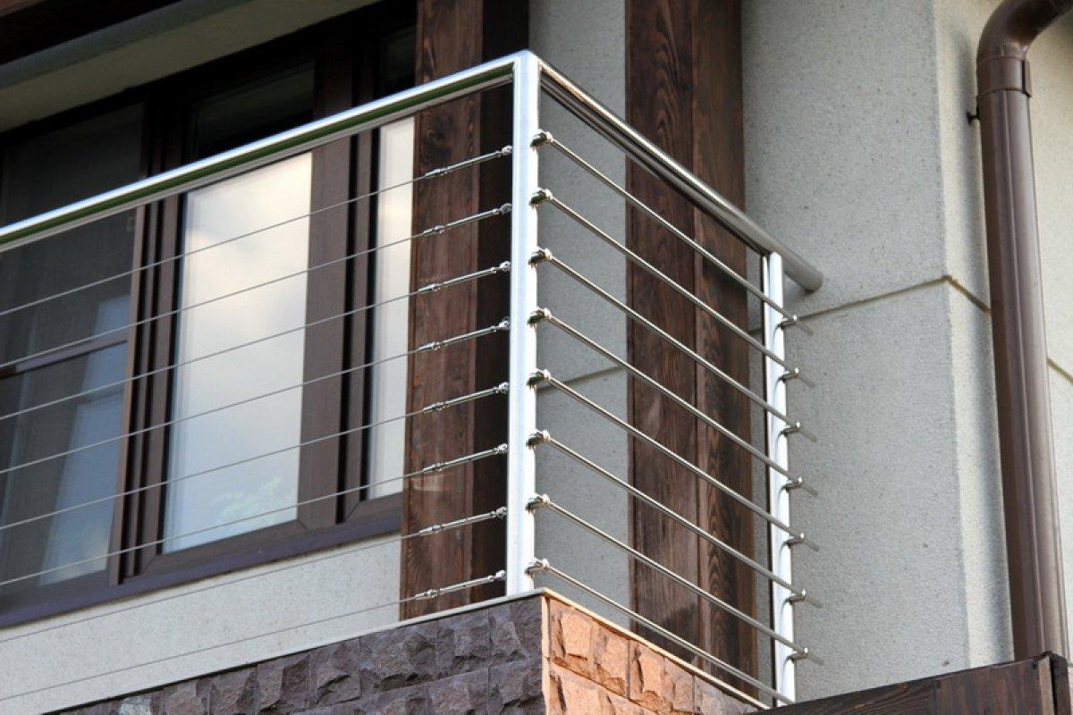 Нержавеющие перильные ограждения, поручни для лестницы с тро.